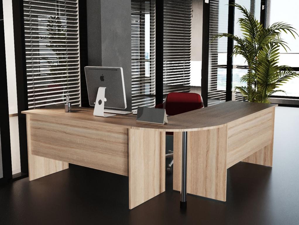 Стол офисный Sanvut КГБМ Дуб Сонома
