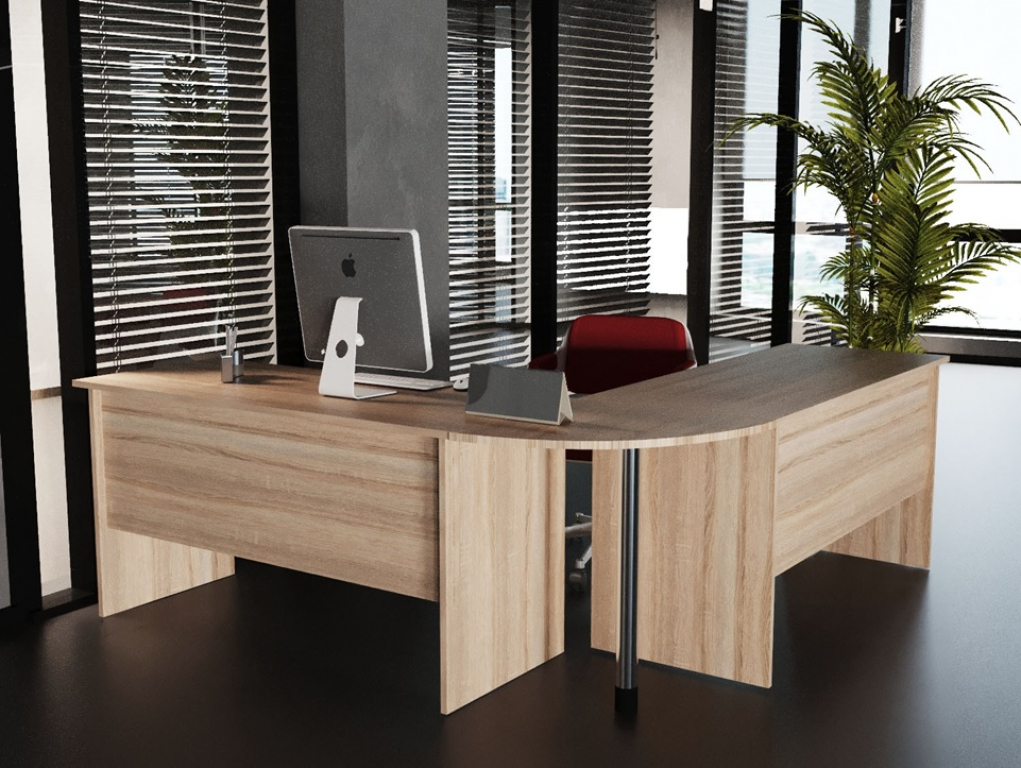 Стол офисный Sanvut КГББ Дуб Сонома